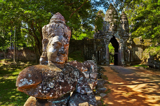 Angkor Thom North Gate, Cambodia