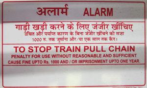 Indian Railways sign